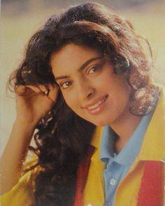 Juhi Chawla Beautiful Bollywood Actress, Most Beautiful Indian Actress, Beautiful Actresses, Indian Actresses, Actors & Actresses, Beautiful Heroine, Juhi Chawla, Aamir Khan, India Art