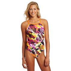 Speedo Women's Nerd Herd Fresh Back Endurance Lite Flipturns Swimsuit >>> Visit the image link more details. (This is an affiliate link) #Swimwear