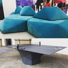 Tá em alta: achados em Milão com design geométrico  Trend Alert: great finds in Milan with geometric design #pingpong #tabletennis #sofa #sofá #geometric #geometria #designweek #trend #tendência by decoradornet