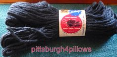 1/2 Price - Cross Stitch Afghan Pillow - 18 Count 100% Acrylic by pittsburgh4pillows on Etsy
