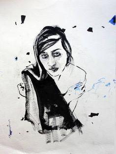 "Saatchi Art Artist Hasti Radpour; Painting, ""The blue Nikole"" #art"