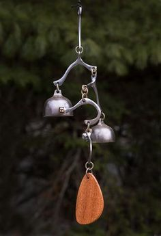 My first bells were wind bells and, for me, they continue to offer an inspiring connection with nature. -Richard Fisher A note about wind. Blacksmith Forge, Ring My Bell, Metal Art Sculpture, Small Doors, Metal Garden Art, Junk Art, Metal Projects, Suncatchers, Plates On Wall
