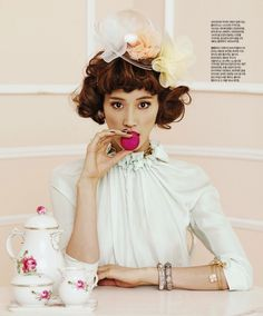 Fashion shoots with sweets and pastels? Yes please.  Every time.