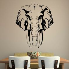 Removable Safari Jungle Elephant Wall Decal African Animals Wall Decal Bedroom Home Decor GW-14 $14.9