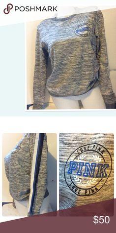 "Victoria's Secret PINK Sweatshirt NWT Victoria's Secret PINK Sweatshirt. ""Love PINK"" on front. White, Blue & Black stripes down each sleeve. Size XSmall. PINK Victoria's Secret Tops Sweatshirts & Hoodies"
