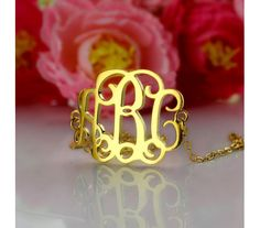 Personalized Gold Plated Silver 925 Monogram Name Bracelet GPNB9