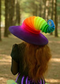 Rainbow Witch Hat. Wizard Costume Hat. Fantasy Hat. Cosplay Hat. LARP. by HandiCraftKate on Etsy https://www.etsy.com/uk/listing/273921396/rainbow-witch-hat-wizard-costume-hat