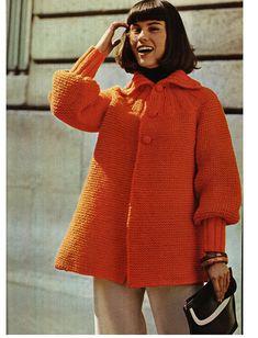 KNITTING JACKET PATTERN Vintage Pattern 70s by Liloumariposa