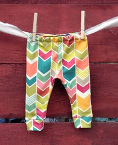 colorful chevron leggings for baby or toddler