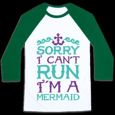 Princess are you a Magical Mermaid who hates running, jogging, exercising, working out, and all things fitness. Well life is better under the sea, so forget about leg day and dive on in with this mermaids themed design featuring illustrations of wave and anchors. Perfect for little mermaid loving beach babes to rock this summer while swimming or listening to music at a summer festival. | HUMAN