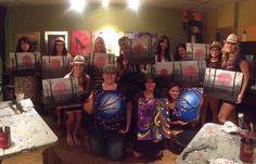 Your Art Party wine & paint Phoenix, AZ Pink Tree painting