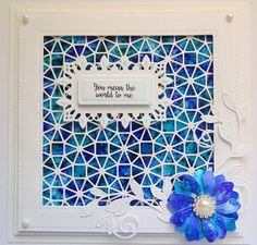 Inky Finger Zone: You mean the world to me You Mean The World To Me, Die Cut Cards, You Meant, Distress Ink, Cardmaking, Paper Crafts, Creative, Frame, Projects