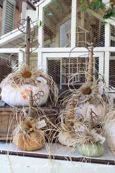 "Sweet Magnolias Farm Originals Farmhouse Pumpkins ~ "" Vintage Linen and Lace Pumpkins Just added to the shop.. """