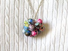 Multicolored enamel Jingle Bell Necklace.  Jingle bells aren't just for Christmas anymore!