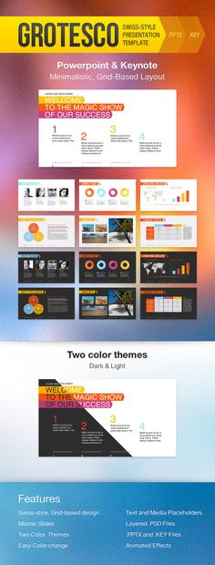 The44Slides Powerpoint Template 1920x1080, Business presentation - business presentation