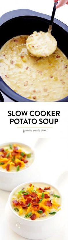 Get the recipe ♥ Slow Cooker Potato Soup @recipes_to_go
