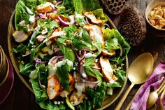 Tandoori Chicken and Fresh Herb Salad. Spiced chicken pairs perfectly with a crisp salad and a yoghurt dressing.