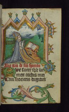 Illuminated manuscript, Prayer book of Bishop Leonhard von Laymingen of Passau, Holy Ghost with bishop kneeling at a prayer desk, Walters Manuscript W.163, fol. 109r by Walters Art Museum Illuminated Manuscripts, via Flickr
