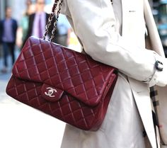 Designer Purses We Adore Burberry Purse, Burberry Handbags, Chanel Handbags, Designer Handbags, Handbags On Sale, Purses And Handbags, Burgundy Bag, Handbags For School, Chanel Classic Flap