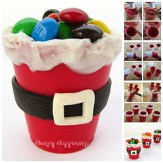 Chocolate Santa Suit Candy Cups