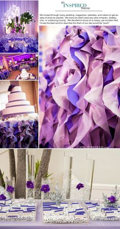 Great tableskirt for the cake table.  Best part of all:  I know how to do this!  You cut the fabric in spirals.