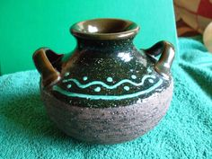 Vintage Sweden Mid Centyry Studio Art Pottery Gabriel E 202 Vase Bowl  brown