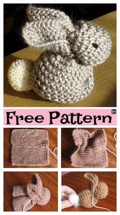 Adorable Knitted Bunny – Free Pattern #freeknittingpattern #freepattern #bunny
