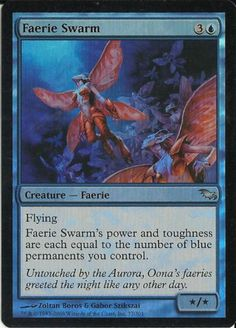 1 Faerie Swarm Shadowmoor Foil MTG Magic The Gathering Blue Uncommon