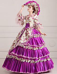 steampunk®georgian viola abito da ballo festa vittoriana Maria Antonietta rococò wholesalelolita abiti da principessa prom