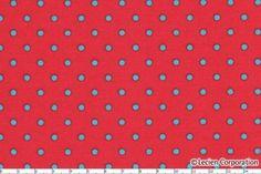 Japanese, Lecien, Red and Aqua Polka Dots, 4523-RL, 1/2 Yard at $4.25 half yard.