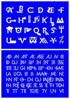 Infini (designed by the graphic and type designer Sandrine Nugue)