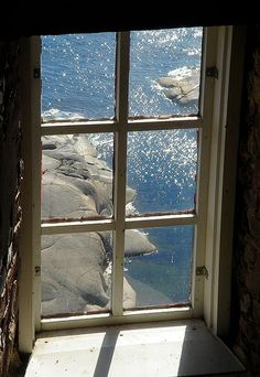 window of the tower by Sirkku. Looks like Bengtskärs lighthouse view