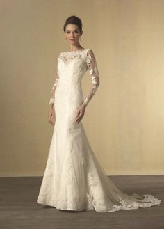 Long sleeve wedding dress from Alfred Angelo