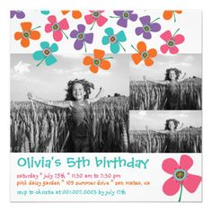 fatfatin Fun Daisy Pop Photo Birthday Invite online after you search a lot for where to buyReviewHere a great deal...