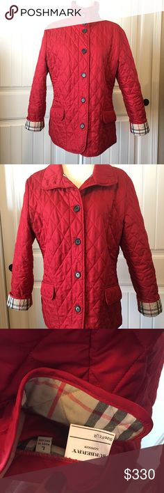 "Burberry Quilted Jacket EUC! No signs of wear. 100% Authentic.  Armpit to armpit : 22"" Shoulder to hem : 26"" Back : 18""  It does not come with belt. I will consider reasonable offers... please don't waste my time sending me 50% off or less offers. Burberry Jackets & Coats"
