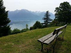 Cette vue est merveilleuse. Lac Léman vu depuis la Gare de Glion - Montreux