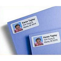 Personalize your holiday greetings with a return address label featuring your own personal photo.