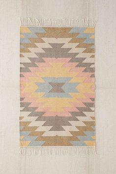 Slide View: 1: Faded Kilim Indoor/Outdoor Woven Rug