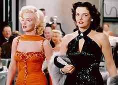 Marilyn Monroe and the lovely Jane Russell in Gentlemen Prefer Blondes