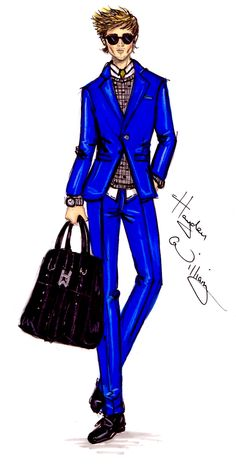 Fashion Illustration- men's fashion I AM GALLA: Hayden Williams X Adam Galla