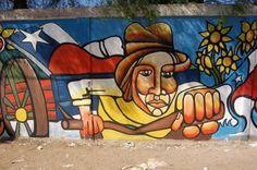 Chilean graffiti - Art and design inspiration from around the world - CreativeRoots City Style, Land Art, Happy Girls, Graffiti Art, Bowser, Chile, Street Art, Around The Worlds, Design Inspiration