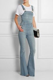 Le High Flare stretch-denim overalls