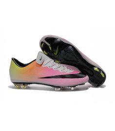 new product bdb16 d9d91 Acheter Nouvelle Chaussure de Football Nike Mercurial Vapor X FG Blanc Noir  Volt Orange Total pas