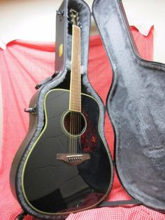 Yamaha Acoustic Guitar W/ TKL Case Model # FG720S Black. Ready To Play!!!
