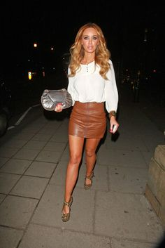 hotminiskirts: Lauren Pope - Black leather mini skirt. I apologize ...