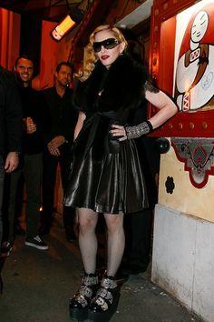 Madonna arriving at the Raspoutine Club, Paris 2015