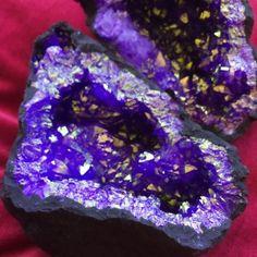 purple aura quartz geodes