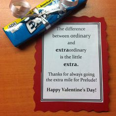 Valentine for coworkers.