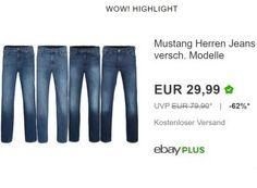 """Mustang: Jeans für 29,99 Euro frei Haus in 10 Farben https://www.discountfan.de/artikel/klamotten_&_schuhe/mustang-jeans-fuer-2999-euro-frei-haus-in-10-farben.php Als """"Wow! des Tages sind heute Herren-Jeans von Mustang zum Schnäppchenpreis von 29,99 Euro frei Haus zu haben. Verfügbar sind zahlreiche Größen und zehn verschiedene Farben. Mustang: Jeans für 29,99 Euro frei Haus in 10 Farben (Bild: Ebay.de) Die Herren-Jeans von Mustang für 29,99 Euro fre... #Hosen"""
