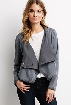 Draped Asymmetrical Front Jacket | Forever 21 - 2000115059